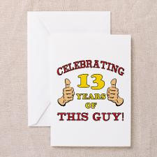 Funny 13th Birthday For Boys Greeting Cards (Pk of for