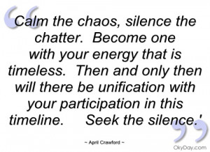 calm the chaos