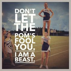 ... pom's fool you I am a beast! #cheer #cheerleading #sideline #strong