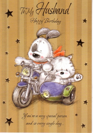 To My Husband Happy Birthday Motor Bike