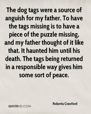Daughter Missing Father Quotes To have the tags missing is to
