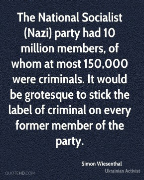 The National Socialist (Nazi) party had 10 million members, of whom at ...