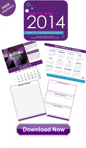 2014 Free Printable Calendar: Inspirational Quotes, Reflections and ...