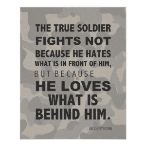 True Soldier Loves Poster, Military, GK Chesterton
