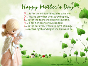 Mothers Day. .Deceased Mother Birthday Message