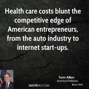 Health care costs blunt the competitive edge of American entrepreneurs ...