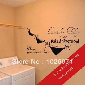 fashion bathroom wall poster,wall quotes ,minion sticker,bathroom wall ...