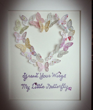 Spread your wings my little butterfly quote frame