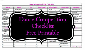 Dance Competition Checklist It's always good to be prepared…