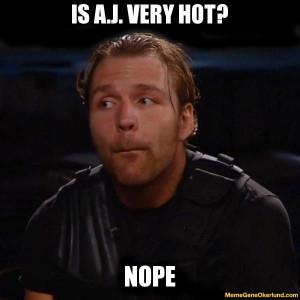 Dean Ambrose and AJ Lee
