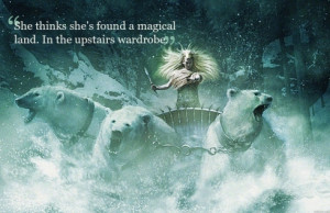 narnia, polar bear, quote, snow, white witch, winter
