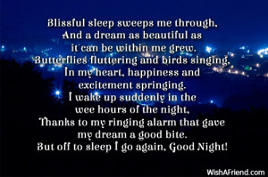 blissful sweet dreams blissful sleep sweeps me through and a dream as ...