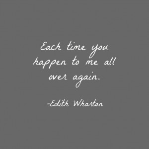 Edith Wharton love quote, from The Age of Innocence