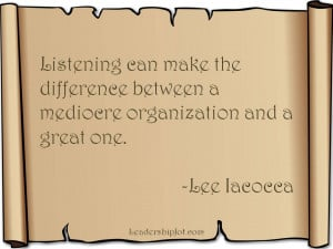 Lee Iacocca Quote about Listening