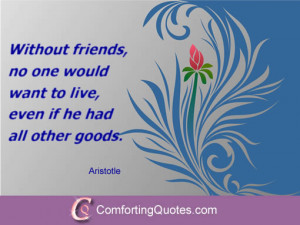 Quote About Importance of Friends by Aristotle