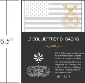 Sample USMC Service Recognition Wording (#294-4)