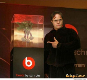 ... .. photoshop, tv, The Office, beats, dwight schrute, beets, dre