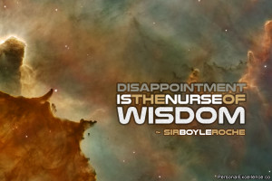 """... Quote: """"Disappointment is the nurse of wisdom."""" ~ Sir Boyle Roche"""