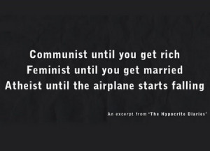 The Hypocrite Diaries...