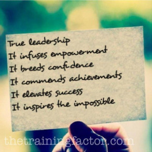 The meaning of true leadership.