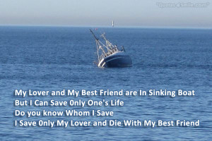 My Lover and My Best Friend are In Sinking Boat