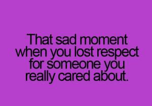 That sad moment....