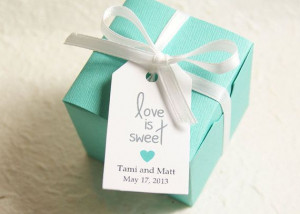 Love is Sweet Wedding Favor Tag - Gift Tag, Bridal Shower Favor Tag ...
