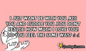 Want to Cuddle with You Quotes