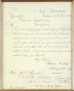 GIDEON WELLES - MANUSCRIPT LETTER SIGNED 06/28/1864 CO-SIGNED BY ...