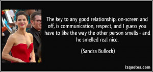 The key to any good relationship, on-screen and off, is communication ...