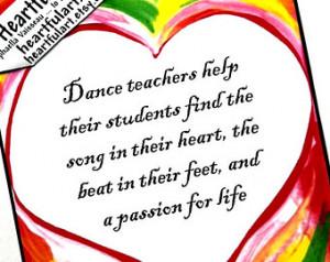 Popular items for dancer teacher