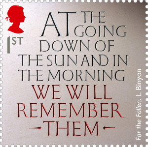 The Great War - 1914 1st Stamp (2014) War Poetry