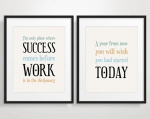 Office Decor Typography Posters, Inspirational Quote Art, Motivational ...