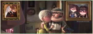 Elderly Carl Ellie Kiss picture
