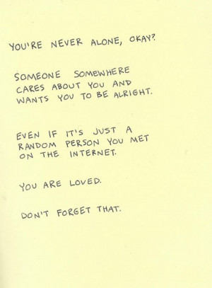le love blog..... never alone quote love via weheartit, http ...