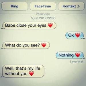 Romantic Text Message