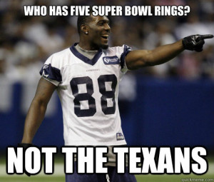 who has five super bowl rings not the texans - Cowboys-Texans
