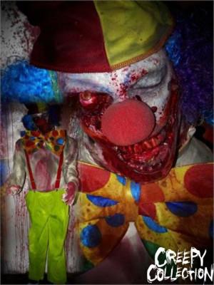 Zombie Clown Halloween Prop