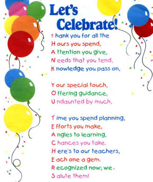 NATIONAL TEACHER APPRECIATION-MAY GIFTS, QUOTES, THEMES, UNITS, LESSON ...