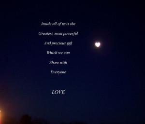 LOVE [heart shaped moon]