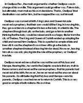 oedipus hamlet essay