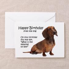 Funny Dachshund Birthday Cards for