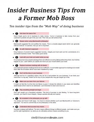 Insider Business Tips from a former Mob Boss | Billionaire's Brain