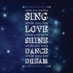 Live Love Dream Quotes Live love dream quotes while