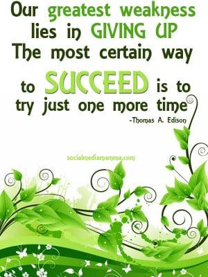 Inspirational Quotes Success www.socialmediamamma.com Inspiring quote