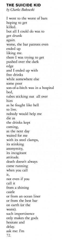 ... is beautiful / sadness quotes / depression / Bukowski / favorite poem