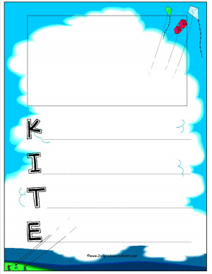 Related Pictures kite poetry template for creative writing