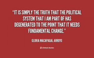 quote Gloria Macapagal Arroyo it is simply the truth that the 61719