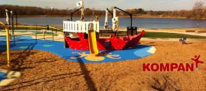 Pirate Ship by KOMPAN at Round Lake Park, Eden Prairie, MN