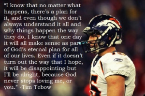 love Tim Tebows attitude on life!!